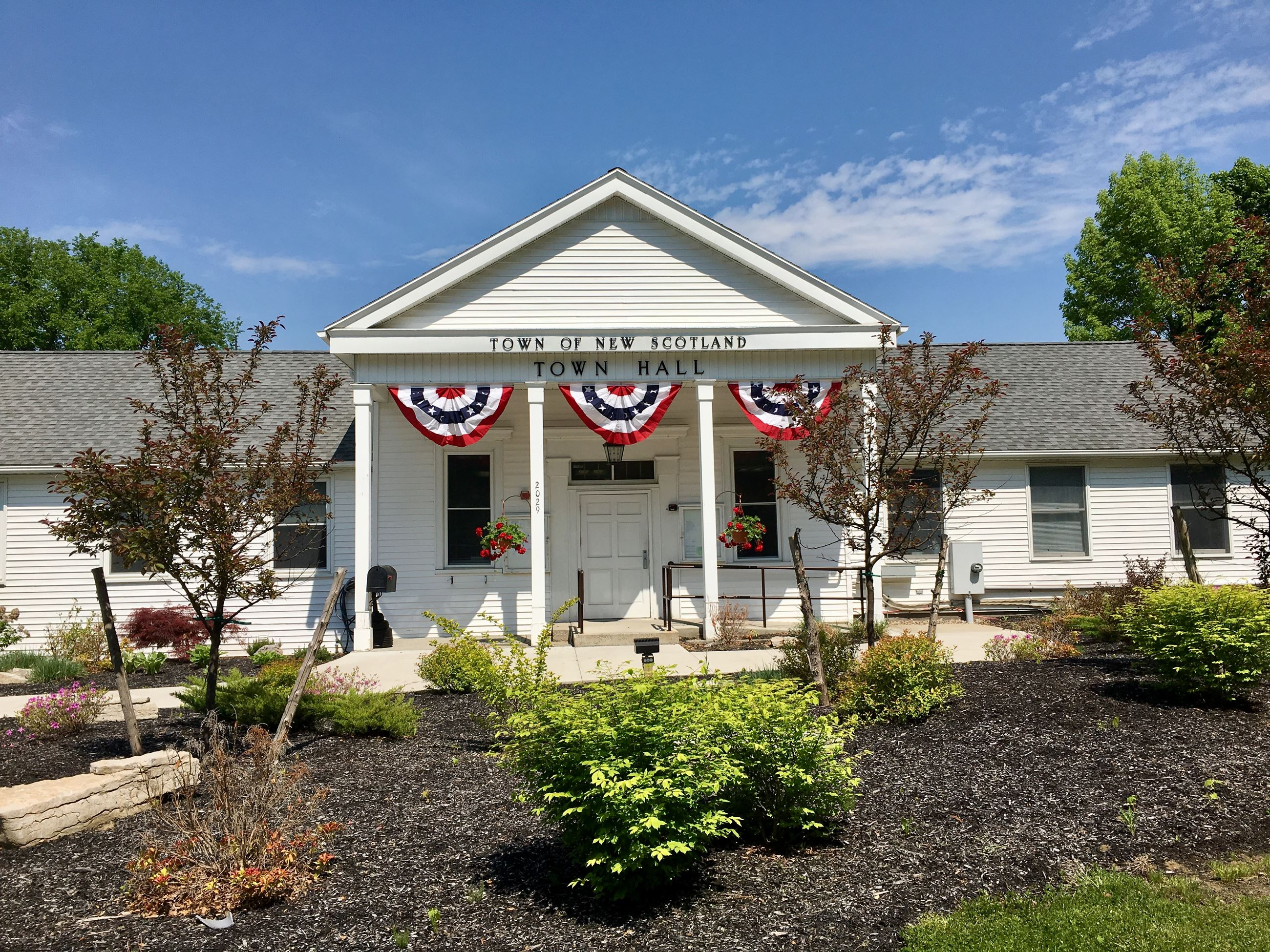 Town Hall Decorated for Memorial Day 2018